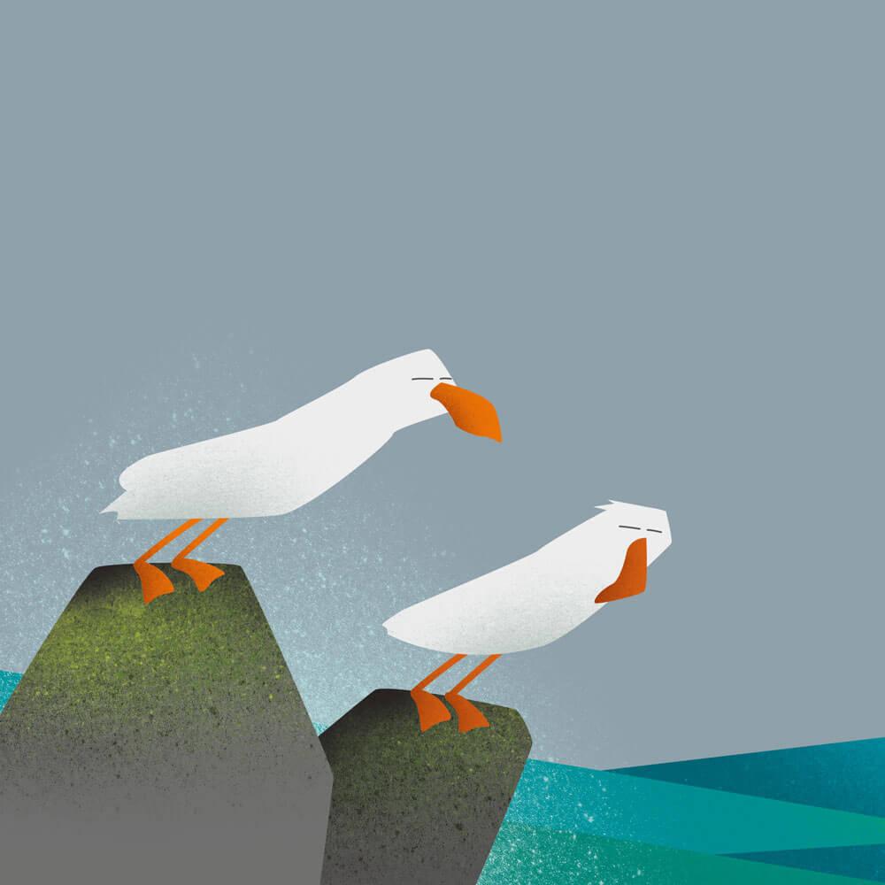 Seagulls - Giclee Print