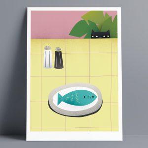 Fishy - A3 Giclee Print