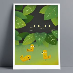 In The Garden - A3 Giclee Print