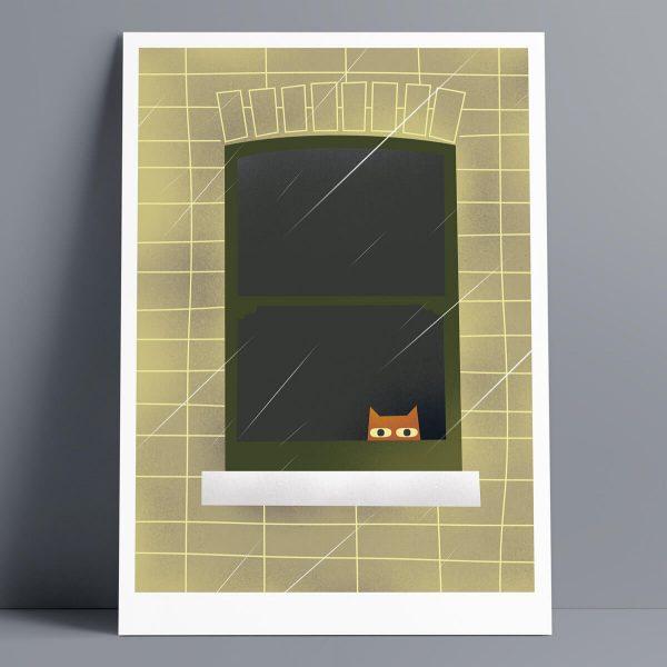 Rainy Day - A3 Giclee Print