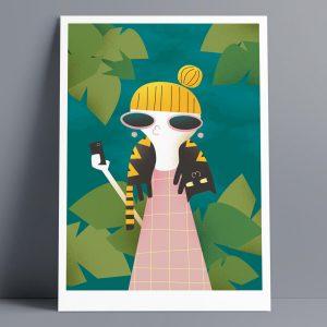 Selfie - A3 Giclee Print
