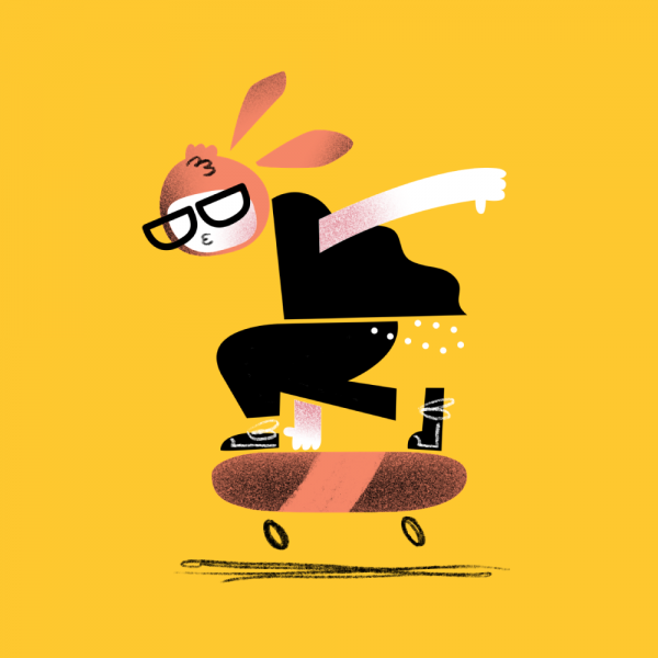 Skate Bunny Illustration - Michael Goodson