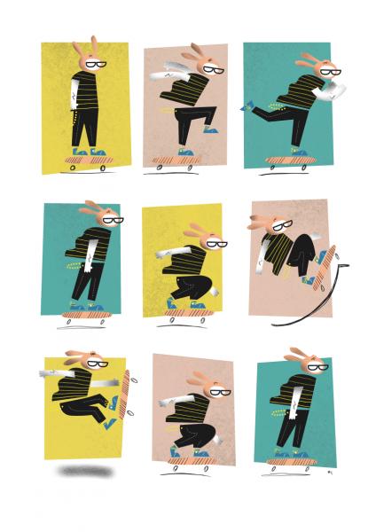Skate Bunny Illustration - Michael Goodson