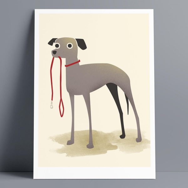 Walkies - A3 Giclee Print