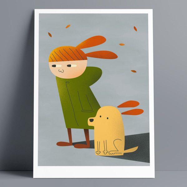 Windy - A3 Giclee Print
