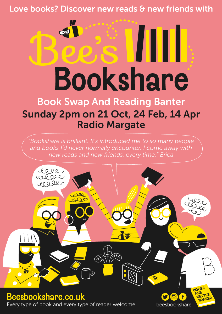 Bees Bookshare artwork and poster design by Michael Goodson