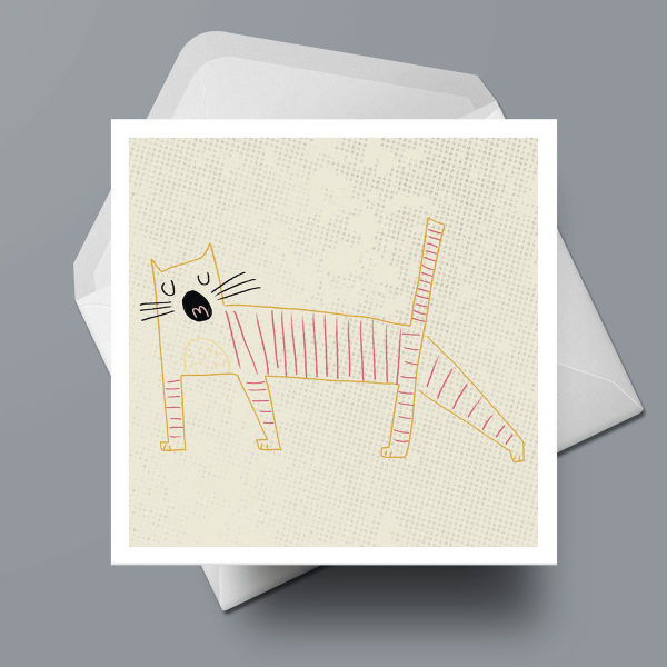 Greetings Card - Yawn by Michael Goodson