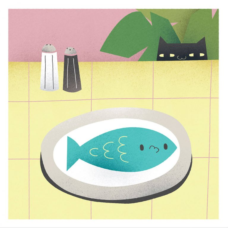 Greetings Card - Fishey by Michael Goodson