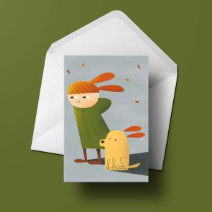 Greetings Card - Windy by Michael Goodson