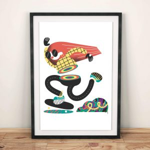 Rainbow Skater 1 - Giclee print by Michael Goodson