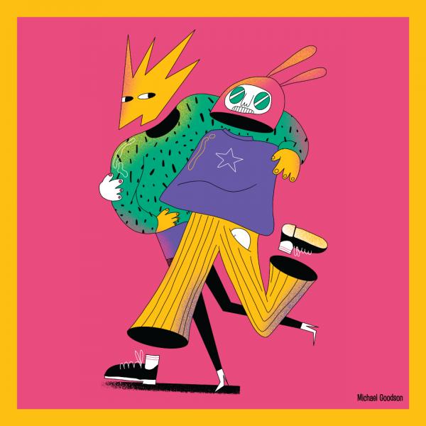 Social Distance - Digital Illustration